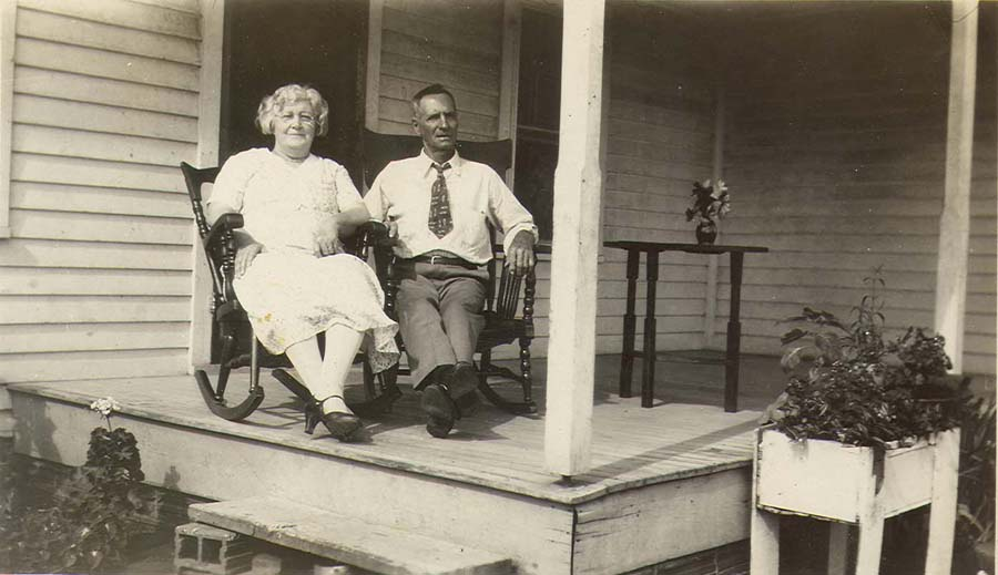 Mary Ada & Charles Campbell Cook at home ~ 1930
